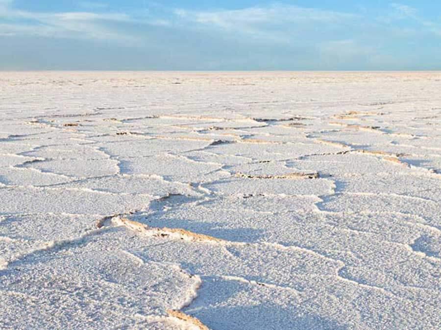 varzaneh salt Lake 4 - دریاچه نمک
